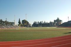 Campo da trilha do futebol Fotografia de Stock