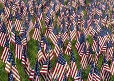 Campo das bandeiras Fotografia de Stock Royalty Free