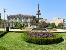 Campo das Hortas della fontana a Braga, Portogallo Fotografia Stock
