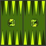Campo de ação da gamão Em colorir - chrysolite Gr?ficos de vetor no estilo liso ilustração royalty free