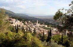 Campo de Assisi Italia Fotografía de archivo