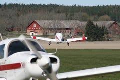 Campo de aviación fotografía de archivo