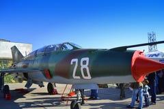 Campo de aviación militar del aeroplano del ¡Ñƒ-25 de Ð Foto de archivo
