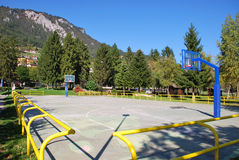 Campo de básquete Fotografia de Stock Royalty Free
