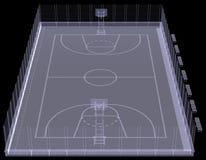 Campo de básquete. Raio X Imagem de Stock