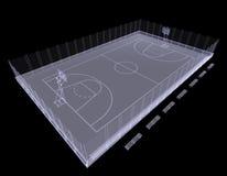 Campo de básquete. Raio X Imagem de Stock Royalty Free