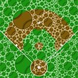 Campo de béisbol stock de ilustración