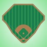 Campo de béisbol Foto de archivo libre de regalías