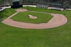 Campo de béisbol de la liga pequeña imagen de archivo libre de regalías