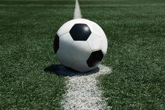 Campo de balón de fútbol Fotografía de archivo libre de regalías
