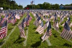 Campo de banderas Imagen de archivo libre de regalías