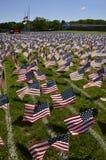 Campo de banderas Foto de archivo