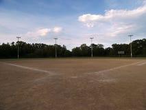 Campo de basebol Fotografia de Stock Royalty Free