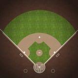 Campo de basebol Foto de Stock Royalty Free