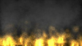 campo de batalha militar da guerra do campo petrolífero das emanações do fumo do fogo 4k ilustração stock