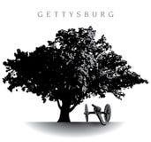 Campo de batalla de Gettysburg stock de ilustración