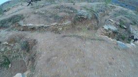 Campo de batalla de la reconstrucción WWII metrajes