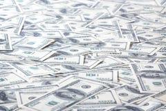 Campo de cientos dólares de notas Imagen de archivo libre de regalías