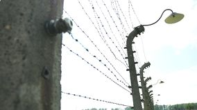Campo de concentração de auschwitz histórico do holocausto da segunda guerra mundial video estoque