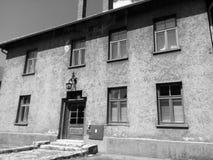 Campo de concentração de Auschwitz imagens de stock