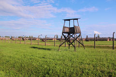 Campo de concentração de Auschwitz-Birkenau Imagem de Stock