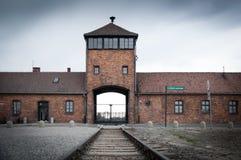 Campo de concentração de Auschwitz Birkenau Fotos de Stock Royalty Free