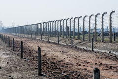 Campo de concentração de Auschwitz Birkenau Fotografia de Stock Royalty Free
