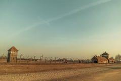 Campo de concentração de Auschwitz-Birkenau para a exterminação Foto de Stock
