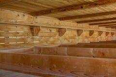 Campo de concentração de Dachau, camas de madeira Imagem de Stock Royalty Free