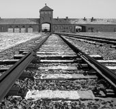 Campo de concentração do Nazi de Birkenau - Poland Foto de Stock