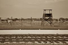 Campo de concentración - Auschwitz-Birkenau, historia Fotos de archivo