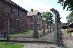 Campo de concentración de Auschwitz Foto de archivo libre de regalías