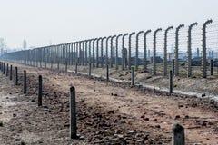 Campo de concentración de Auschwitz Birkenau Fotografía de archivo libre de regalías