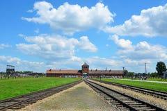 Campo de concentración de Auschwitz - de Birkenau Imagen de archivo