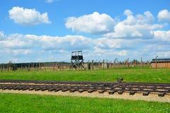 Campo de concentración de Auschwitz - de Birkenau, dentro Foto de archivo libre de regalías