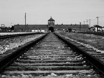 Campo de concentración de Birkenau Imágenes de archivo libres de regalías