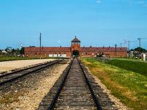 Campo de concentración de Birkenau Imagen de archivo libre de regalías