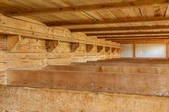 Campo de concentración de Dachau, camas de madera Fotografía de archivo libre de regalías