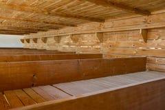 Campo de concentración de Dachau, camas de madera Fotos de archivo libres de regalías