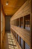 Campo de concentración de Dachau, camas de madera Imágenes de archivo libres de regalías