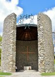 Campo de concentración de Dachau - capilla Fotografía de archivo
