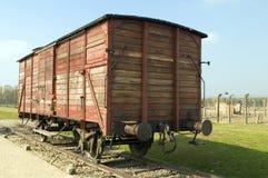 Campo de concentración nazi del tren de la leva de la muerte del holocausto Foto de archivo