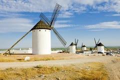 Campo de Criptana. Windmills, Campo de Criptana, Castile-La Mancha, Spain Stock Photo