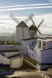 Campo de Criptana i landskapet av Ciudad Real, Spanien Arkivbilder