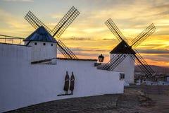 Campo de Criptana in the province of Ciudad Real, Spain Royalty Free Stock Photos