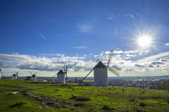 Campo de Criptana in the province of Ciudad Real, Spain Stock Photography
