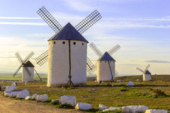 Campo de Criptana in the province of Ciudad Real, Spain Royalty Free Stock Photo