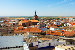 Campo de Criptana in summer. La Mancha, Spain Royalty Free Stock Photo