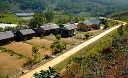 Campo de Dalat, vivienda, settle, paisaje fotos de archivo libres de regalías