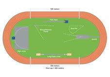 Campo de deportes stock de ilustración
